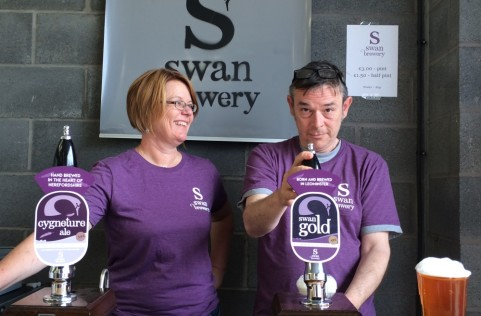 Fabulous bar staff at the Swan Brewery Open Day