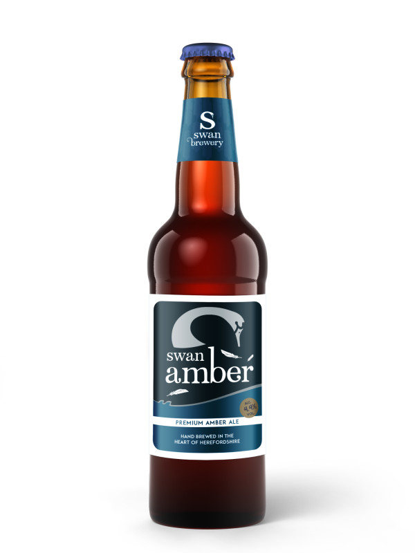 Swan Amber malt forward ale 4.4% in 500ml bottle