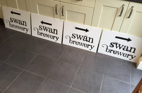Swan Brewery signs