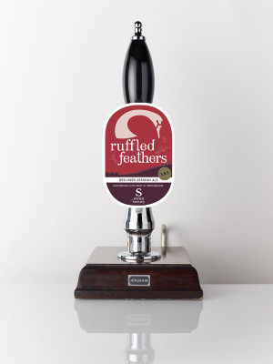 Ruffled Feathers red hued session ale on the pump
