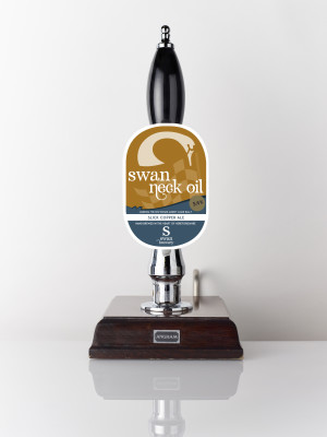 Copper coloured ale Swan Neck Oil 3.4% beer engine