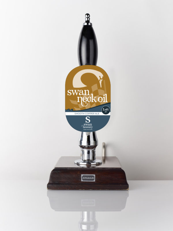 Swan Neck Oil triple hopped smooth copper ale