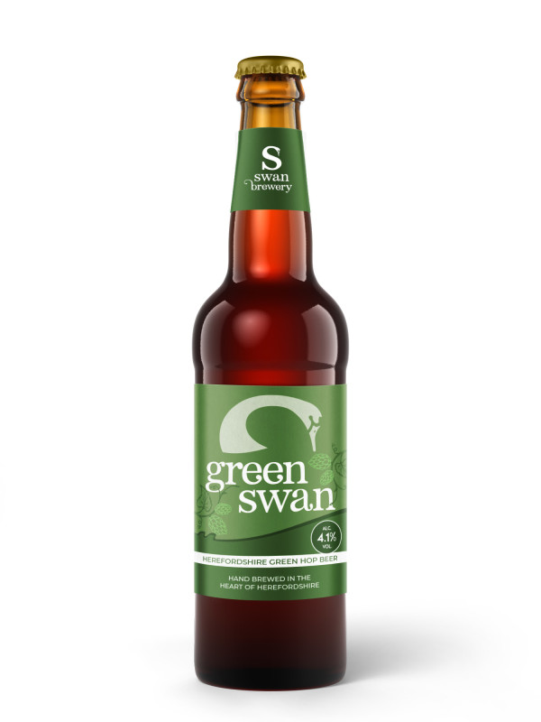 Green Swan bottled green hop beer