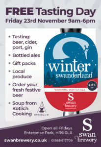 Winter Swanderland Tasting Day November 23rd 2018