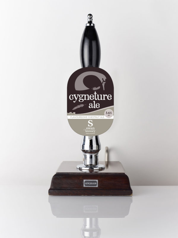 Cygneture Ale from Swan Brewery pump clip