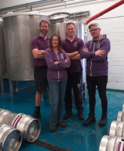Team Swan in the brewhouse