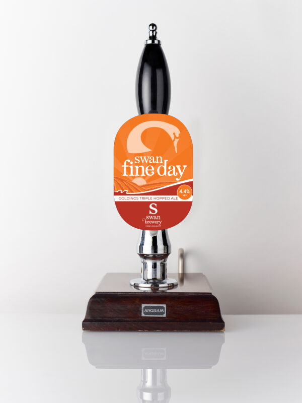 Swan Fine Day from Swan Brewery pump clip