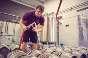 Brewery jobs: Filling casks in the brew house